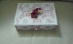 A small pink n lace box