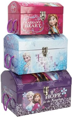Disney Frozen Set of 3 Storage Trunks