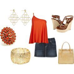 LOVE the orange shirt!!