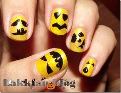 DIY halloween nails: DIY Halloween nail art : Halloween Challenge - Halloween pumpkin