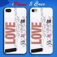 I Love Math Custom iPhone 5 Case Cover