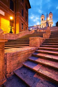 One of Rome's most famous landmarks - the Spanish Steps, which is rarely without tourists