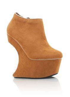 spiky heel-less platform booties