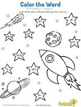 Twisty top color by letter coloring page printable for Stars in the sky coloring pages