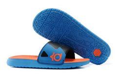 new product 6f656 dc138 Nike Solarsoft KD Slide Mens Sandals Orange Blue Shoes Nike Shoes Online,  Buy Nike Shoes