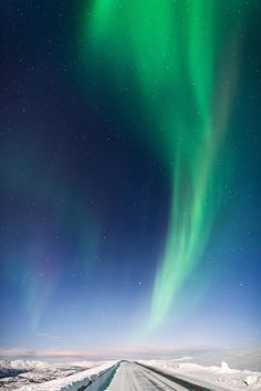 Northern lights in Norway - Frostfire road by Tommy Richardsen