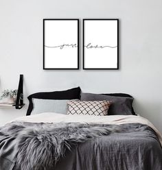 Black And White Pictures, Room Inspiration, Home Office, Diy Home Decor, Sweet Home, Bedroom, Wall, House, Furniture