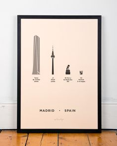 Madrid Spain City Print Poster vermut oso madrono