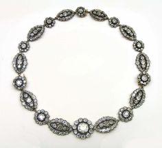 - Early 19th century diamond necklace, circa 1820