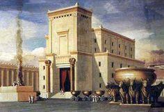 Ilustración del Templo de Salomón, con los bueyes bajo el mar de bronce. Imagen de Google