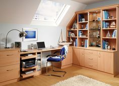 Illuminate your work space with a bespoke fitted desk below your window