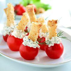 Apéritif frais tomates et chèvre