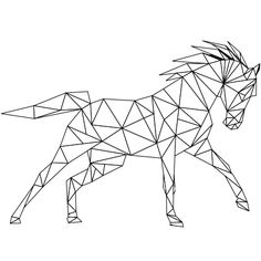 Dessin Coloriage cheval au galop a colorier Plus