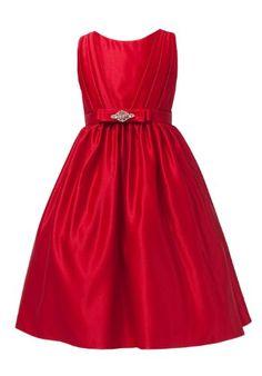 5b2b949c6 Amazon.com: Sweet Kids Little Girls' Satin & Rhinestone Flower Girl Party  Dress: Clothing
