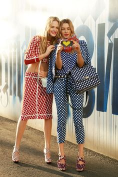 Anne V and Jessica Hart for Harper's Bazaar by Tommy Ton.