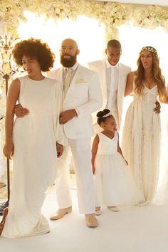 Beyoncé, Jay Z, Blue Ivy, Solange Knowles and Alan Ferguson at Miss Tina & Richard Lawson's Wedding