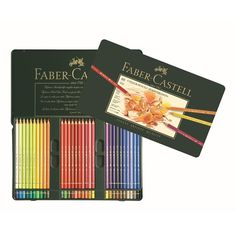 Faber-Castell Color Pencil Polychromos - 60 ct.  High quality pigments of unsurpassed light-fastness and brilliance. Smudge-proof and water-resistant thick oil pastel lead, soft color stroke. Break-resistant due to SV bonding.