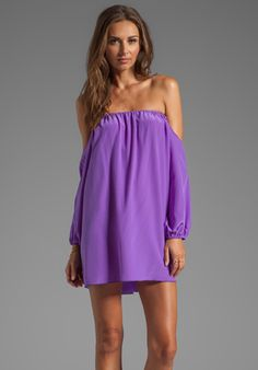 BOULEE Audrey Dress in Purple - New