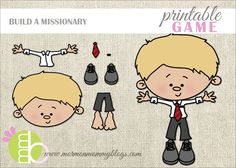 Build a Missionary Printable Game | Mormon Mommy Printables