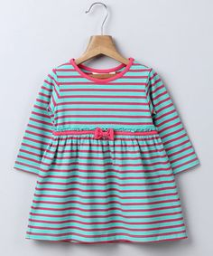 Look what I found on #zulily! Green Stripe Organic Dress - Infant & Toddler #zulilyfinds