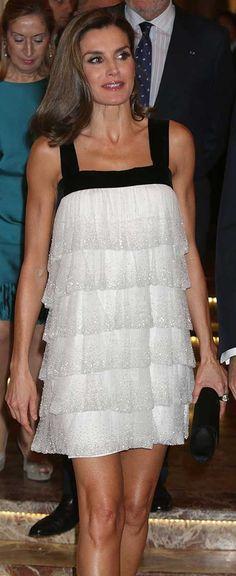 Teresa Helbig white tiered mini dress