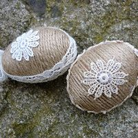 Diy Ostern, Burlap, Easter, Crafting, Easter Crafts, Hessian Fabric, Easter Activities, Crafts To Make, Crafts