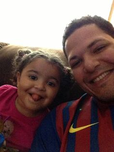 Yadi and his daughter