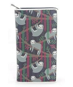 Look what I found on #zulily! Navy Happy Sloth Wallet #zulilyfinds