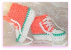 Gehäkelte  Babyschuhe, Turnschuhe, Sneakers,   Sephionas-Wolltraum Handarbeiten zum Wohlfühlen