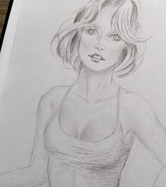 Skizze Frau Dark Art Drawings, Pretty Drawings, Sexy Drawings, Art Drawings Sketches, Pencil Drawings, Female Drawing, Female Art, Figure Drawing, Painting & Drawing