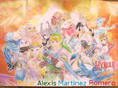 dibujo de zelda hyrule warriors Zelda Hyrule Warriors, Princess Zelda, Link, Painting, Art, Dibujo, Art Background, Painting Art, Kunst
