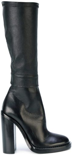 Ann Demeulemeester heeled knee boots | knee boots | thigh highs | thigh high boot | womens boot | boot | ladies boot | fashion | footwear | womens shoes