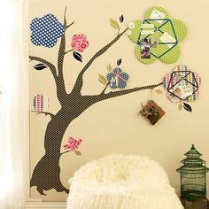 bulliten board tree mural