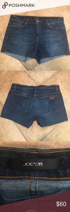 Joe's jean shorts Designer Joe's dark wash denim cutoff shorts. In great condition. Joe's Jeans Shorts Jean Shorts