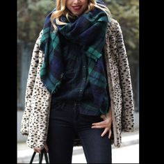 "Blanket Scarf green/blue Soft, lightweight and thin avoids excess bulk. Approximately 55""x55"". Images 2, 3, 4 show an actual stock item. Soft acrylic. Unbranded. Brand new boutique retail. No trades, no off App transactions or negotiations.       ❗️PRICE IS FIRM UNLESS BUNDLED❗️ Leoninus Accessories Scarves & Wraps"