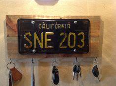 Classic Repurposed Vintage 1963 California License Plate Key Hanger, OOAK, Home…