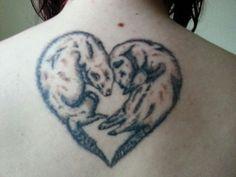 The final finished Ferret Tattoo <3 !!!