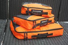 Orange CubbyCubes, set of 3, Small, Medium & Large  #cubby #camp #travel #organize