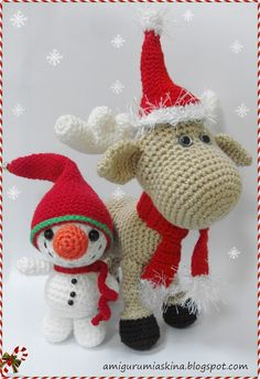 christmas amigurumi | Amigurumi kerst christmas | Crochet for Christmas | Pinterest