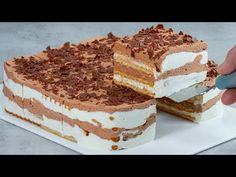 Without milk, eggs, flour and oven. This is kids' favorite chocolate cake! - YouTube White Chocolate, Chocolate Cake, Kids Meals, Easy Meals, Milk And Eggs, Cake Ingredients, No Bake Desserts, Tiramisu, Oven