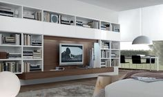 Contemporary TV wall unit - OPEN - ArchiExpo