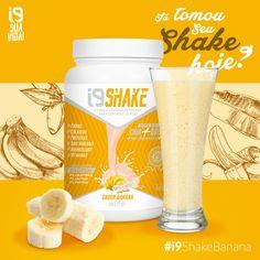 O i9 Shake é uma forma de controlar o peso de um jeito muito mais saudável, nutritivo e delicioso. Um dos nossos sabores tropicais é o de Banana! Já tomou seu shake hoje?  Compre Onlaine: www.perfumesi9.com.br