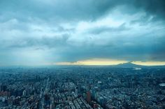 [Holiday Day 8 - Taipei] The Taipei city view from Taipei 101 Observatory at the 89th floor after a whole afternoon of raining...  Do you know that Taipei 101 was the worlds tallest inhabited building from 2004 until 2010 when it was displaced by the opening of the Burj Khalifa in Dubai?  #Taipei101 #Taipei #CityView #TravelAsia #AllisonTravels