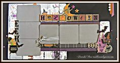 Rose Blossom Legacies: Scaredy Cat Halloween Layout