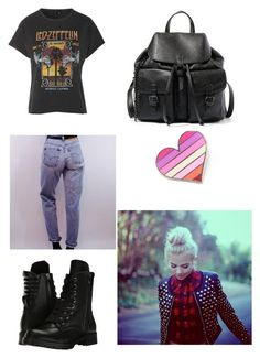 """Lipstick- Skylar outfit #2"" by justabbi on Polyvore featuring Topshop, Levi's, Capezio and Steve Madden"