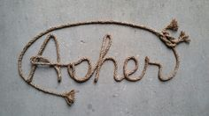 Handcrafted custom personalized western/nautical  rope name art, perfect for any western, rustic, nautical or farmhouse themed decor. Please visit my etsy shop, Lasso Lettering, at https://www.etsy.com/shop/LassoLettering