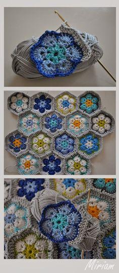 Rosetas para colcha ... Afrikaanse bloemen deken/ sprei. :: ElsaRblog
