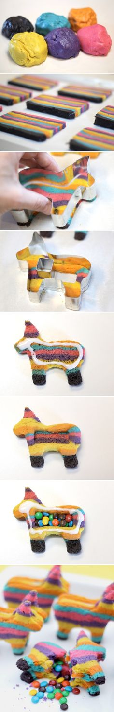 Pinata Cookies. I am dying.