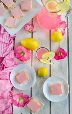 Naturally Pink Lemonade Bars