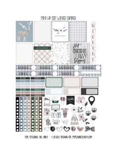 Free Printable Soft Winter Sampler for the Mini Happy Planner from myplannerenvy.com